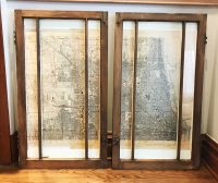 Framed windows, set of 2