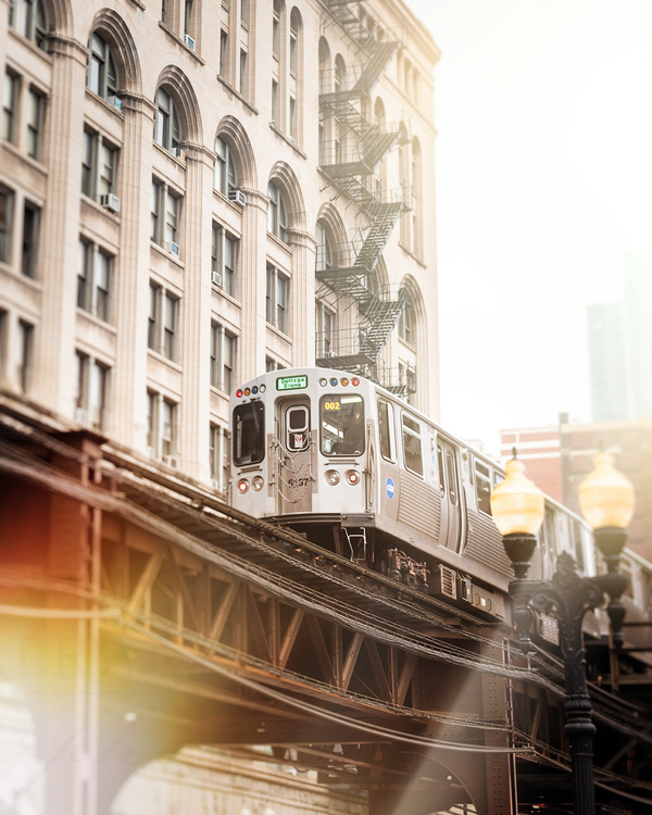 Chicago Train in South Loop