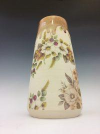 Peach Floral Vase