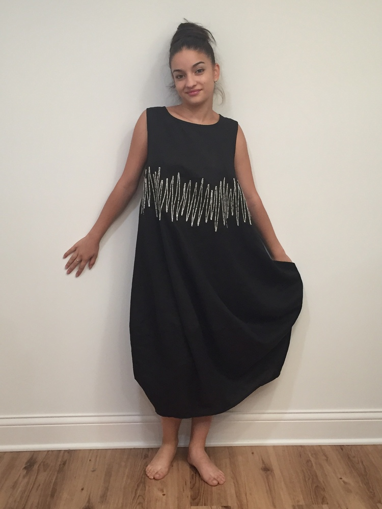 Linen Black Dress