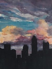 Evening Cityscape