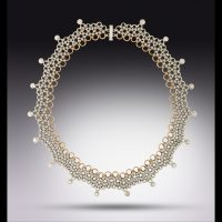Scalloped Japanese Necklace