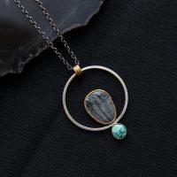 Trilobite & Turquoise Necklace