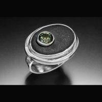 Tashmarine and Beach Stone Ring