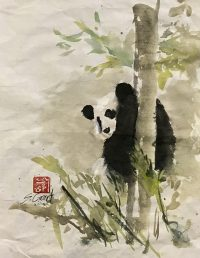 Panda Up a Tree