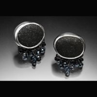 Chicago Beach Stone and Spinel Earrings
