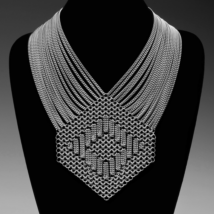 Slinky Hexagon Necklace