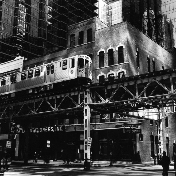 Chicago 'L' Tracks on Lake Street