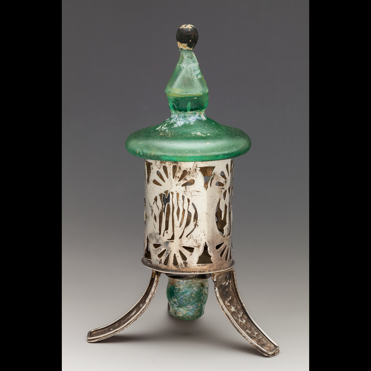 Ancient blown glass fragments vase