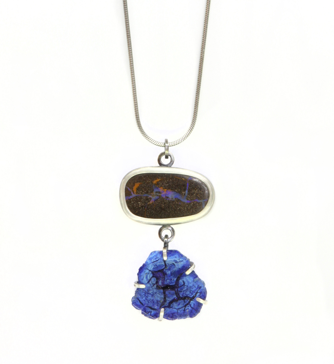 Opal and Azurite Necklace