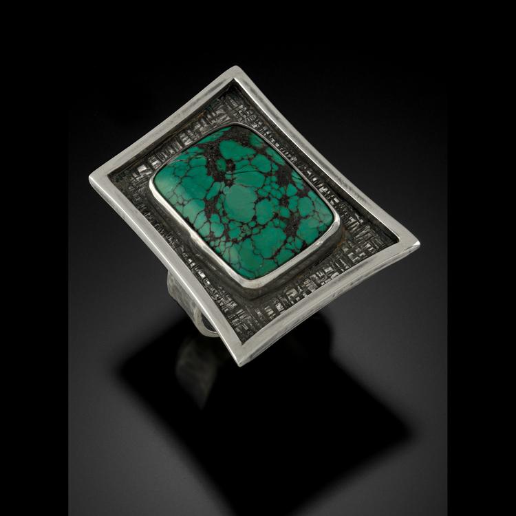Geo Turquoise Ring
